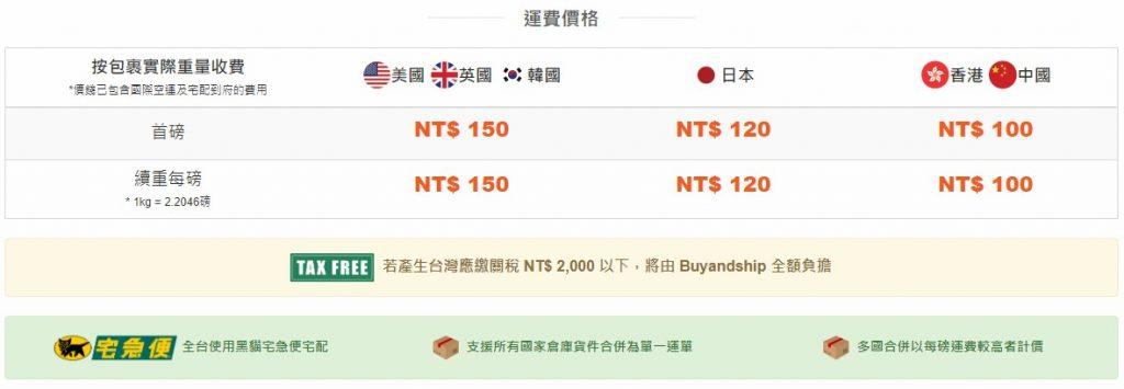 buyandship 運費計算